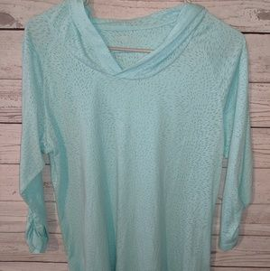 Teal hooded Columbia top